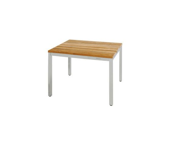 Oko dining table 90 x 90 cm (post legs) by Mamagreen by Mamagreen