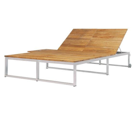 Oko Lounge double sun lounger with tray by Mamagreen by Mamagreen