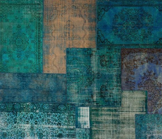 Patchwork Decolorized blue by GOLRAN 1898 by GOLRAN 1898