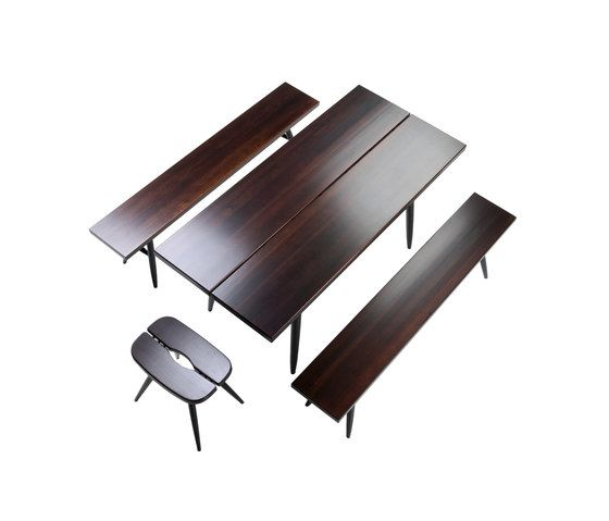 Pirkka Table with 2 Benches by Artek by Artek