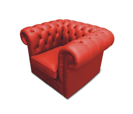 Plastic Fantastic club chair red by JSPR by JSPR