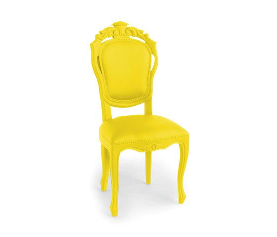 Plastic Fantastic dining chair banana by JSPR by JSPR