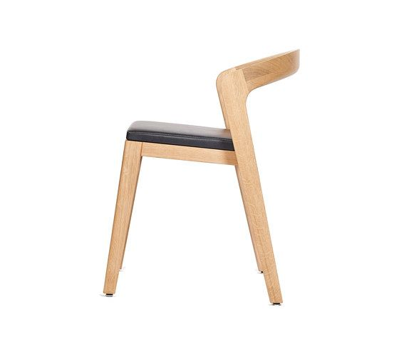 Play Chair – Oak Natural Stained with black calf leather cushion by Wildspirit by Wildspirit