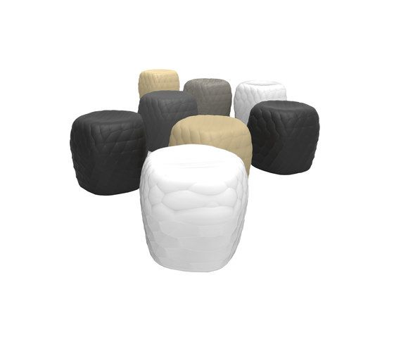 River Stone Pouf Small by Tonon by Tonon