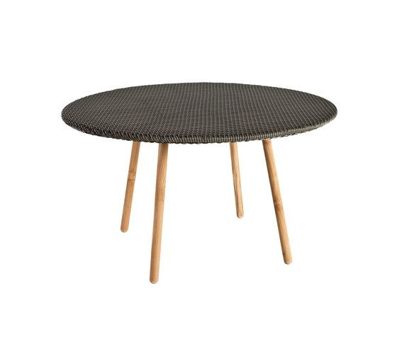 Round Round dining table weaving top by Point by Point