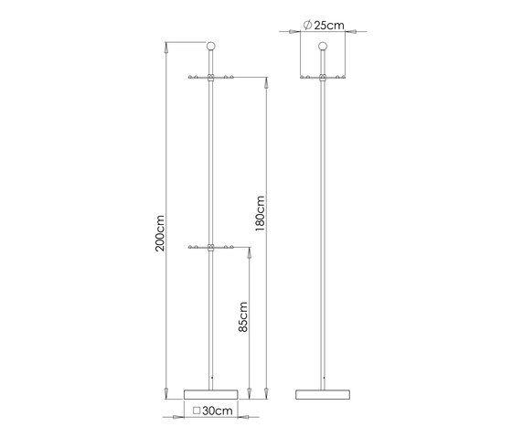 Safari G01 Freestanding wardrobe 200cm H by Ghyczy
