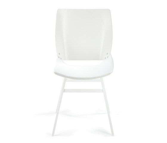 Shell Dining Leather Seat by Rex Kralj by Rex Kralj