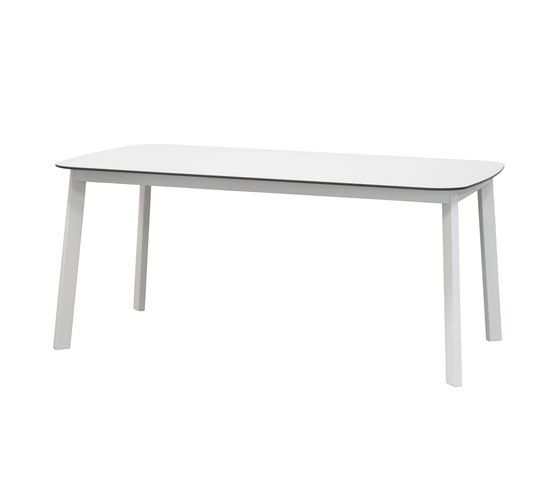 Shine Rectangular Table with HPL Top by EMU