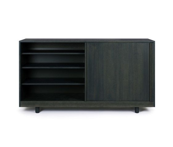 Sideboard with sliding doors by Bautier by Bautier
