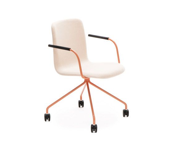 Sola conference chair with four leg base with castors by Martela Oyj by Martela Oyj