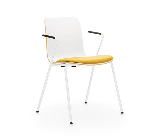Sola with armrests & seat upholstered by Martela Oyj by Martela Oyj