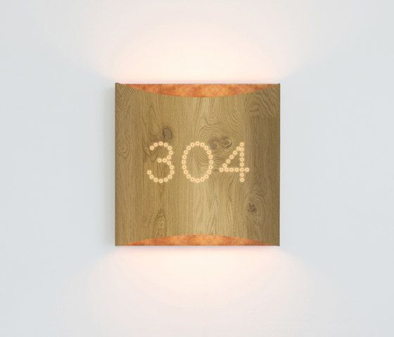 Sophie wall oak copper with number by lasfera by lasfera