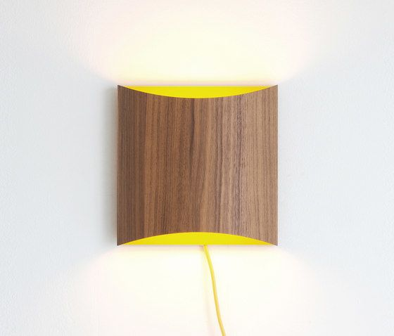 Sophie wall walnut yellow with cable by lasfera by lasfera