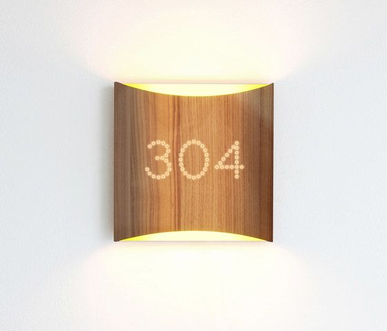 Sophie wall walnut yellow with number by lasfera by lasfera