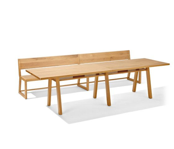 Stijl table and bench by Lampert by Lampert