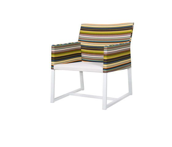 Stripe casual chair (horizontal-leisuretex seat) by Mamagreen by Mamagreen