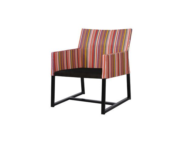 Stripe casual chair (vertical-leisuretex seat) by Mamagreen by Mamagreen