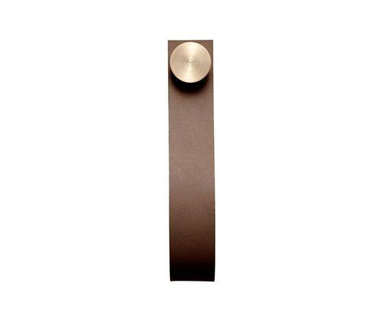 Stropp, brown # brass pack of 6 by by Lassen