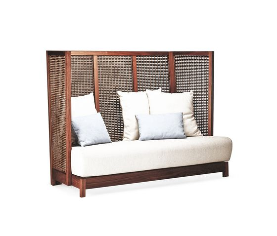 Suzy Wong Loveseat High Back by Kenneth Cobonpue by Kenneth Cobonpue