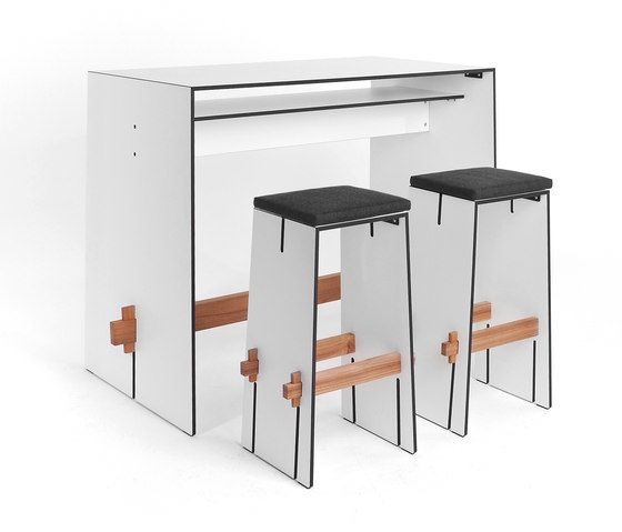 Tension bar stool by Conmoto by Conmoto