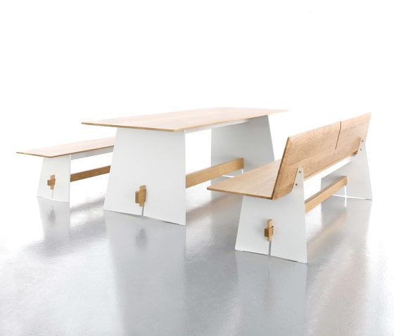 Tension rectangular table by Conmoto by Conmoto