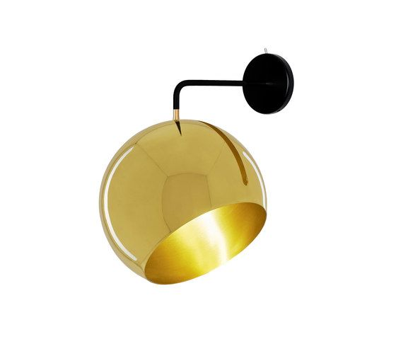 Tilt Globe Brass Wall by Nyta by Nyta
