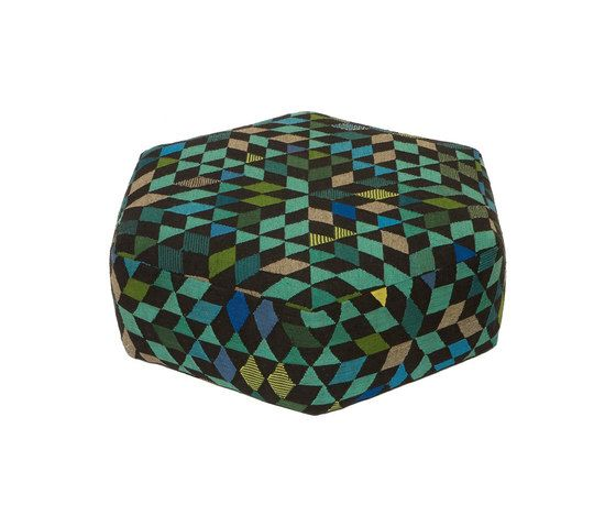 Triangles Pouf Diamond apple green low by GOLRAN 1898 by GOLRAN 1898