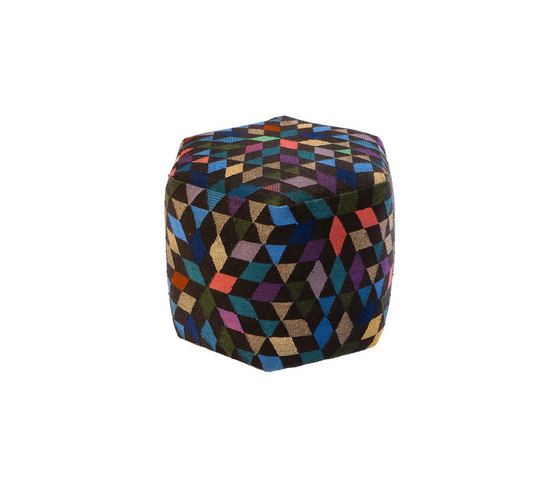 Triangles Pouf Diamond black high by GOLRAN 1898 by GOLRAN 1898