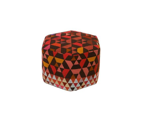 Triangles Pouf Trianglehex strawberry high by GOLRAN 1898 by GOLRAN 1898