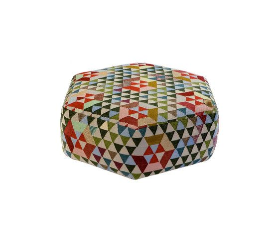 Triangles Pouf Trianglehex sweet green low by GOLRAN 1898 by GOLRAN 1898