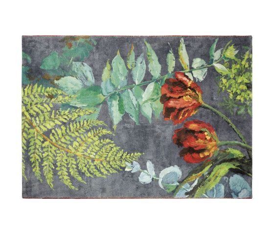 Tulipani - Graphite - Rug by Designers Guild by Designers Guild