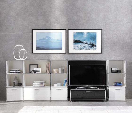 TV-Shelving combination by Dauphin Home by Dauphin Home