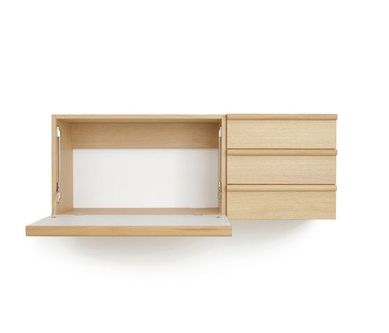 Wall desk unit and wall drawer unit by Bautier by Bautier