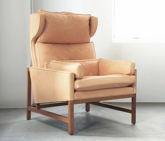 Wing Back Lounge Chair by BassamFellows by BassamFellows