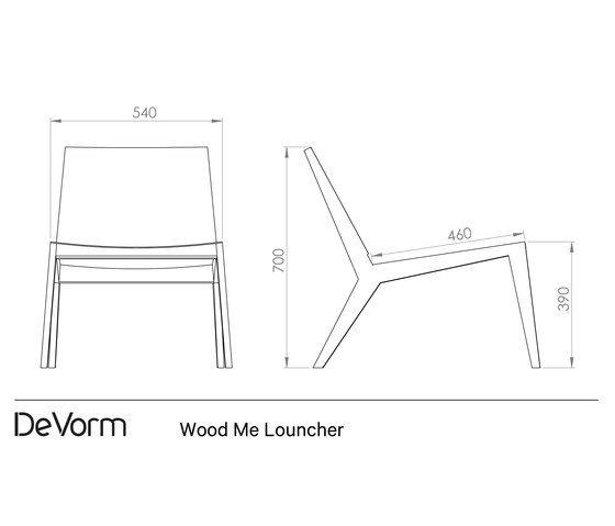 Wood Me Lounger by De Vorm by De Vorm