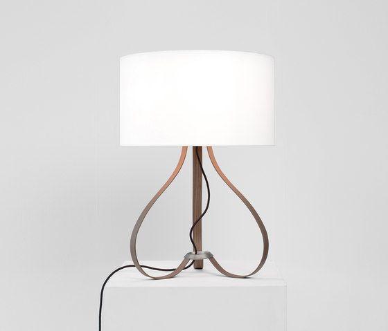 Yun table lamp walnut by lasfera by lasfera