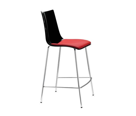 Zebra Antischock stool 4-legs frame by Scab Design by Scab Design