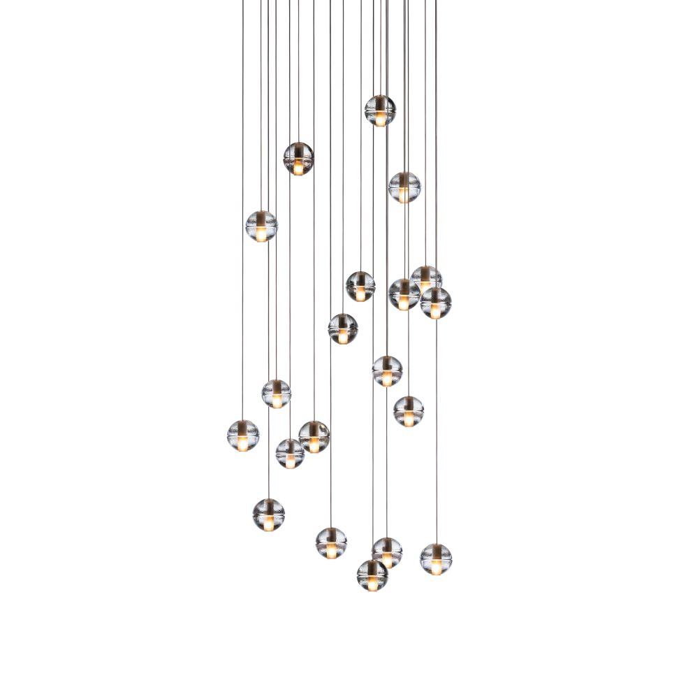 1420 pendant chandelier clear xenon by omer arbel for bocci aloadofball Choice Image