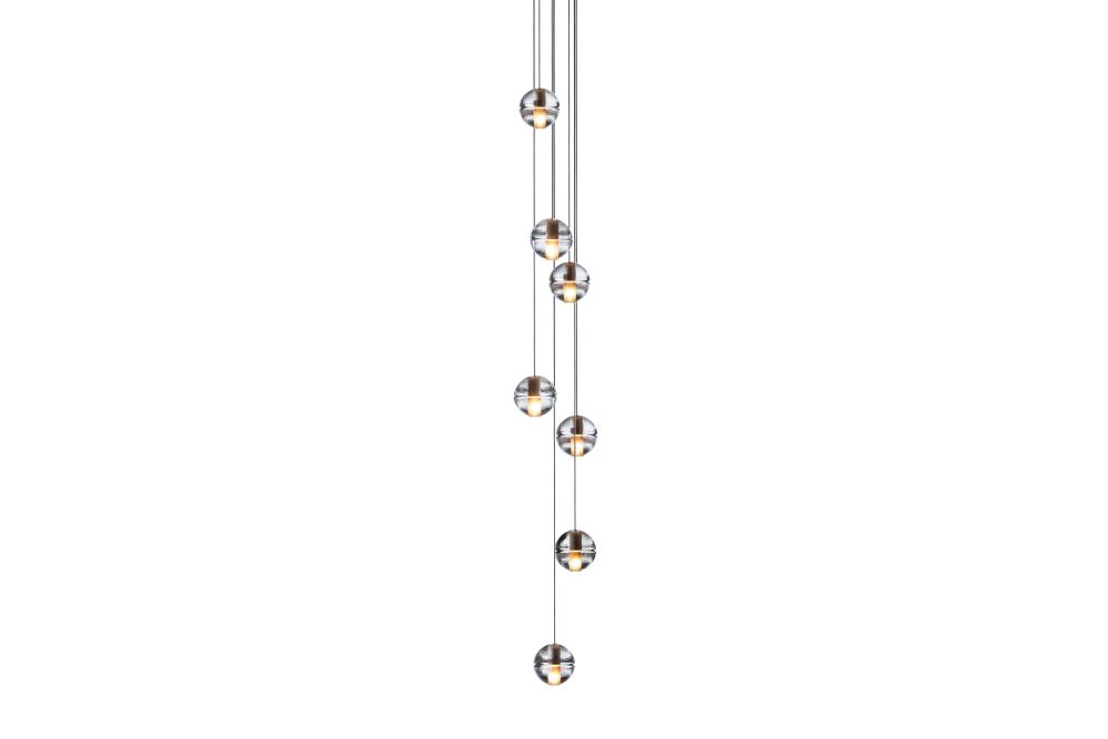147 seven pendant chandelier clear xenon by omer arbel for bocci aloadofball Choice Image