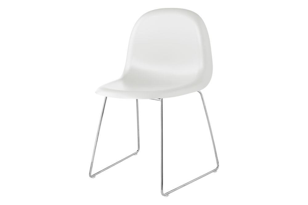 Gubi 3D Dining Chair Sledge Base - Unupholstered by Gubi