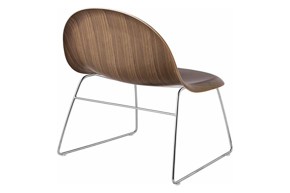 Gubi 3D Lounge Chair Sledge Base - Unupholstered by Gubi