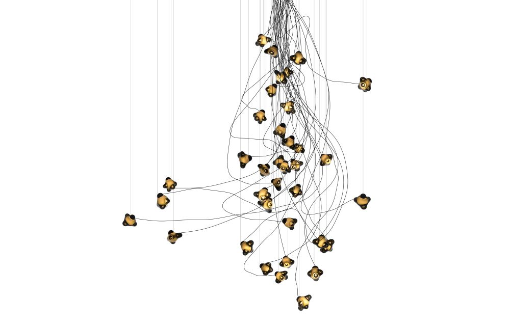 57.37 Cluster Chandelier by Bocci