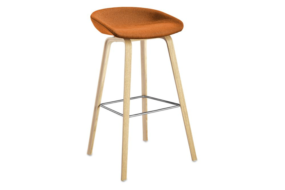 About A Stool AAS33 High Stool, Lacquered Oak Legs by Hay