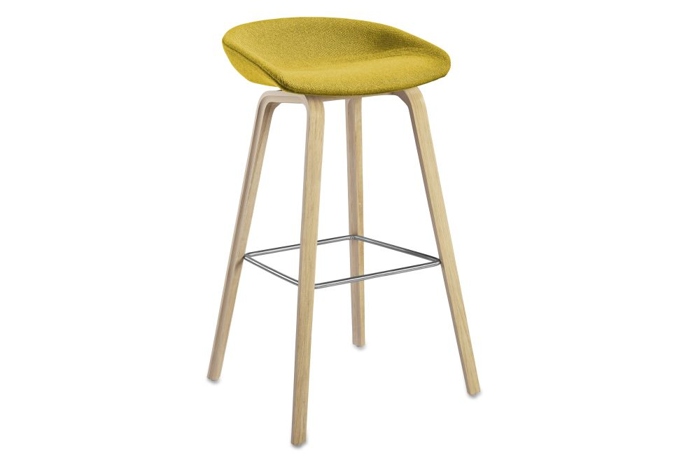 About A Stool AAS33 High Stool, Soap Treated Oak Legs by Hay