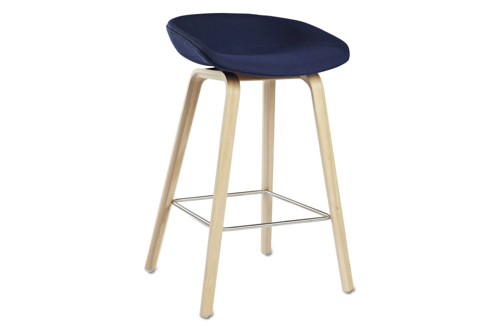 About A Stool AAS33 Low Stool, Lacquered Oak Legs by Hay