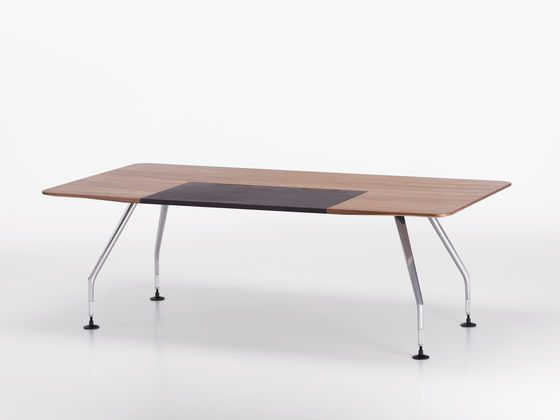 ad hoc solitaires meeting rectangular table by vitra. Black Bedroom Furniture Sets. Home Design Ideas
