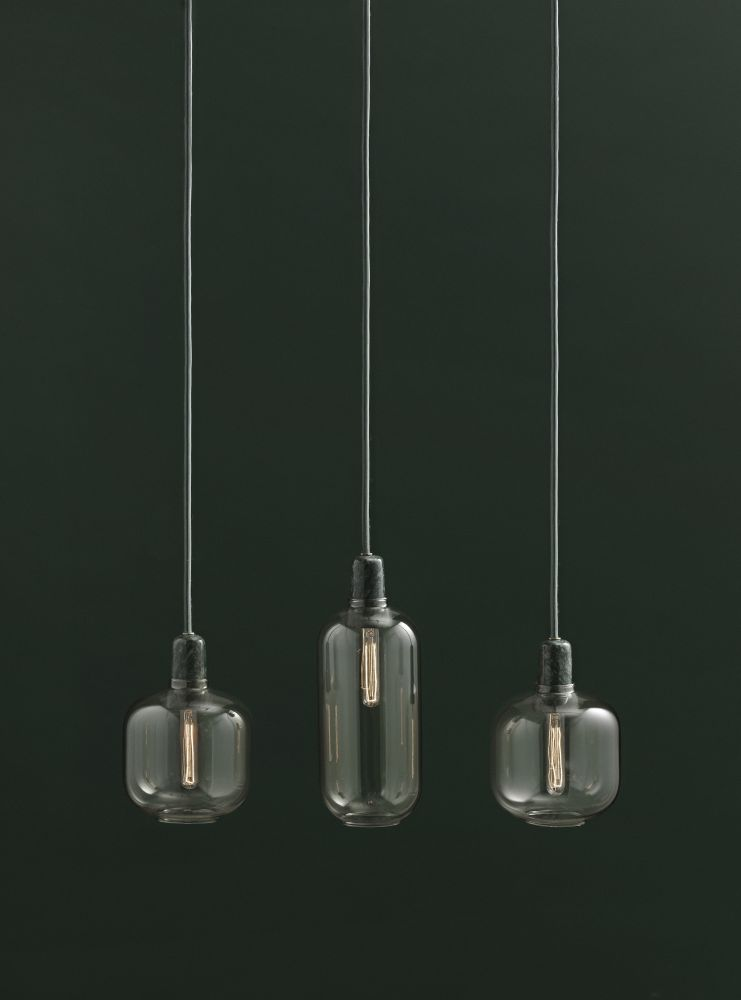 Amp Pendant Light Smoke Small By Simon Legald For Normann
