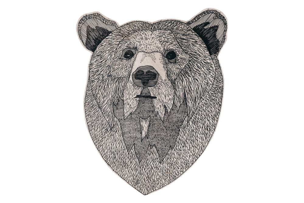 Animal Illustration Bear in the Wood by Splinter Designs