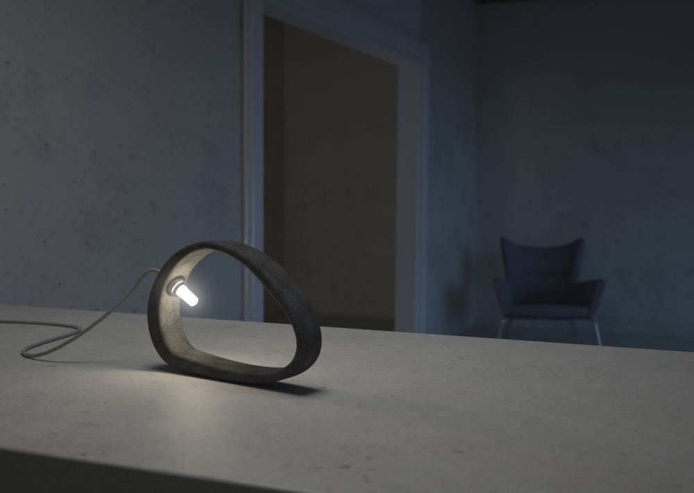 Aretha Concrete Table Lamp T By Urbi Et Orbi Handmade In Athens Skilled Artisans
