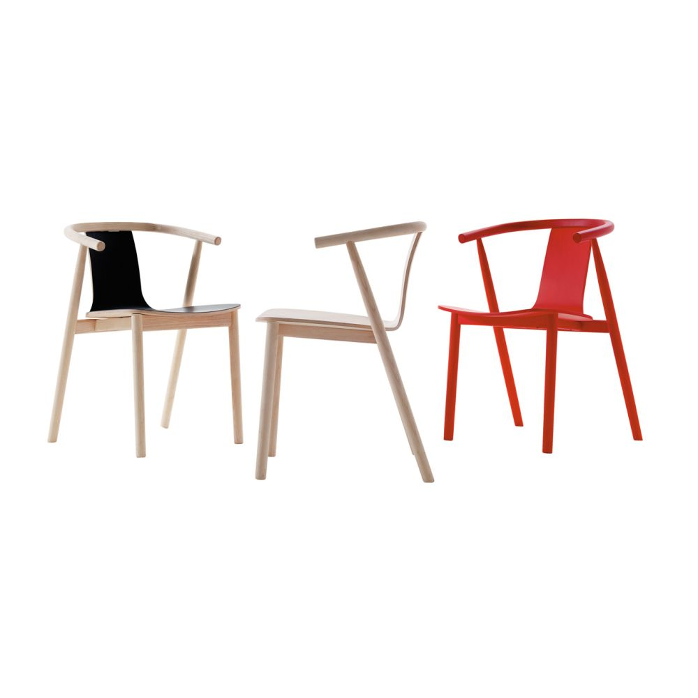 Bac Unupholstered Chair with Linoleum Seat by Cappellini